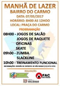 MANHÃ DE LAZER - BAIRRO DO CARMO